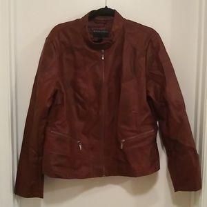 Bernardo brown vegan leather Moto jacket